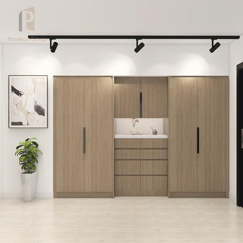 Wood Bedroom Wardrobe Apartment